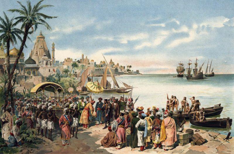 A chegada de Vasco da Gama a Calicute, em 1498