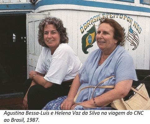 Agustina Bessa-Luís e Helena Vaz da Silva na viagem do CNC ao Brasil, em 1987