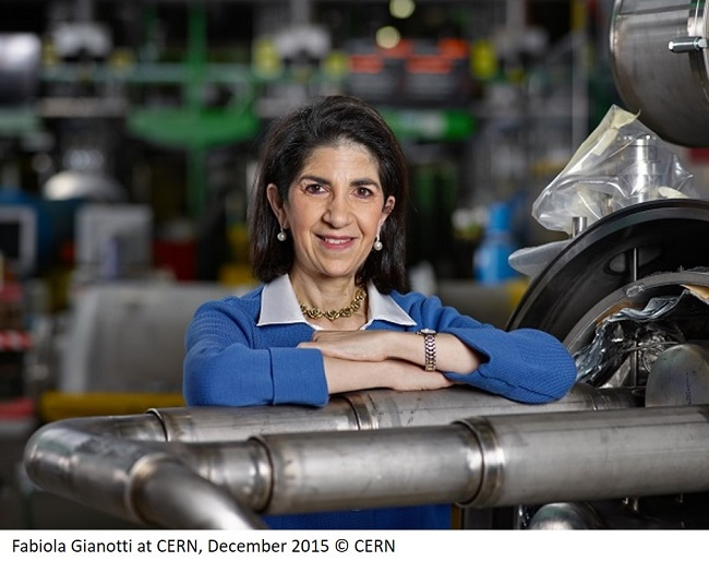 Fabiola Gianotti at CERN, December 2015 © CERN