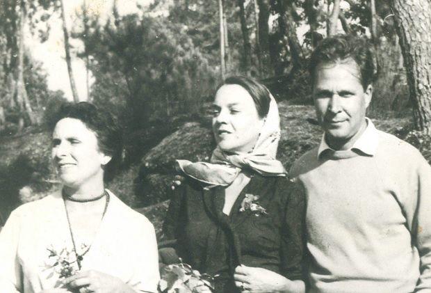 Sophia entre Agustina Bessa-Luís e Eugénio de Andrade [DR]